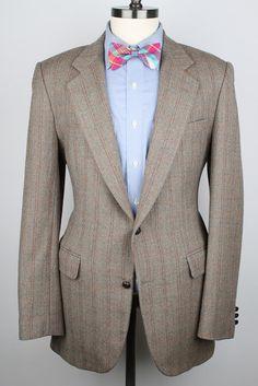 Light Brown Mens Tweed Jacket  Cerruti Vintage by ThePlaidBowTie