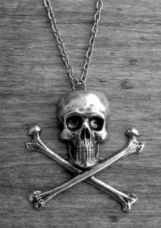 Silver Skull and Crossbones Necklace by Ink & Roses 13