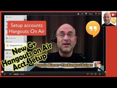 New Hangouts on Air Account Setup & Tutorial - Google+ The Above 8 minute video shows you the account setup needed to use Hangouts on Air, as well as some HOA basics. This involves connecting a YouTube account in the process.  Hangout Training and Brainstorming sessions happen in a Private Google+ Community. Later, that recorded session is made available here in the membership site...  If you want to learn about Hangouts on Air, Ronnie Bincer is where you start.