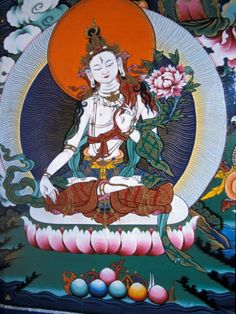 White Tara from Monastery Wall, Lhasa, Tibet Photographic Print 18x24 $29.99