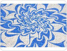 Blue & White Mosaic