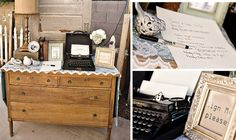 She ordered a very pretty pressed paper guest book.  Make sure you get shots of it.