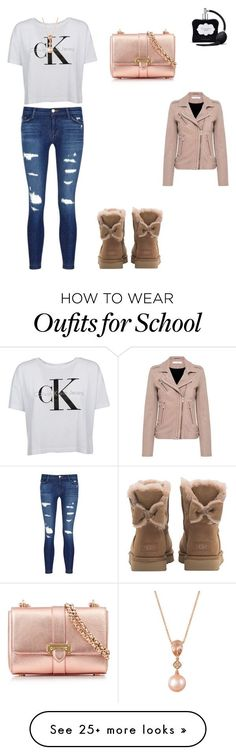 """school"" by delaneycb7 on Polyvore featuring J Brand, Calvin Klein, UGG, Victoria's Secret, LE VIAN, Aspinal of London and IRO"