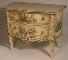 French Court Commode by Janet Reyburn - $795.00 : Swan House Miniatures, Artisan Miniatures for Dollhouses and Roomboxes