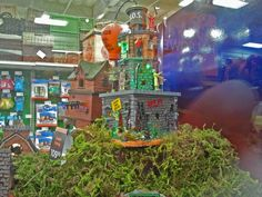 Zombie Fortress from a Halloween display at Michaels