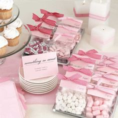 Cute little candy favor bags.