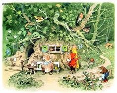 by Fritz Baumgarten Fairy Land, Fairy Tales, Baumgarten, Magical Home, Kids Poems, Elves And Fairies, Fairy Pictures, Postcard Art, Animation