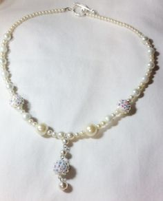 Necklace Faux PearlBridal Jewelry Necklace for by CindyDidIt, $27.50