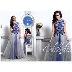Khodiyar Creation hot blue gown........