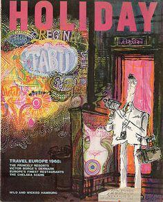 Ronald Searle Tribute: Magazine Illustration Part 2: HOLIDAY magazine