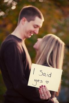Cute engagement photo