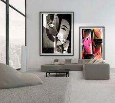 plakat kubistyczny w salonie