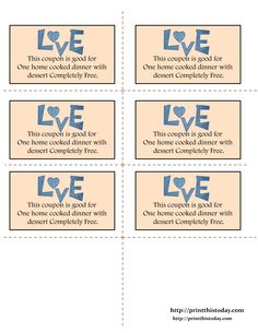 Printable Love Coupons | Print This Today
