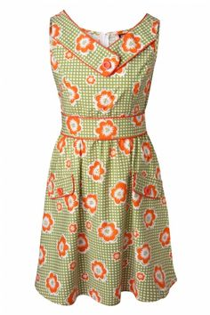 Retrolicious - 60s Ginger Flower A line dress ... I'd probably wear this with docs. That's how I roll.