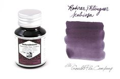 50ml bottle of Rohrer & Klingner Eisen-Gallus-Tinte Scabiosa (Iron/Gall Nut-ink Scabiosa Purple) fountain pen ink.