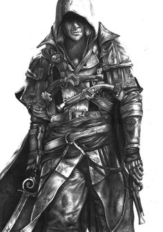 A Realistic Pencil drawing of EDWARD KENEWAY from ASSASSINS CREED 4 BLACKFLAG. what do you guys think? check out the timelapse video :youtu.be/AWotejG_vqo