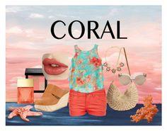 """Contest Entry: Coral"" by thinnita on Polyvore featuring moda, Pilot, Bobbi Brown Cosmetics, Coclico, Flora Bella, Linda Farrow, Michael Kors, Emily & Ashley, women's clothing y women"