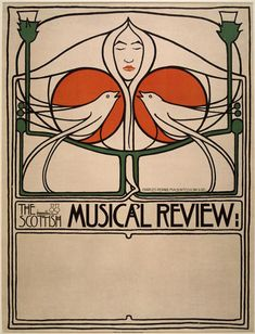 Collaborators at the Glasgow School of Art caused admiration and outrage with their abstract interpretations of human figures. One of their first posters, in was created for a concert series in Scotland. Art And Craft Design, Design Art, Graphic Design, Belle Epoque, Charles Rennie Mackintosh Designs, Glasgow Museum, Glasgow School Of Art, Glasgow Girls, Jugendstil Design