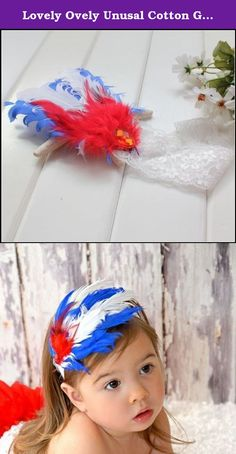 Lovely Ovely Unusal Cotton Girls Baby Red Blue White Feather Hairband Headband. Brand New, With Tags Beautiful Feather Roses Glitter Diamond Glitter Lace Headband for Girls, Ladies and Women. These headbands are absolutely stunning! A different and unusual accessory which will make your little girls stand out from the crowd! Note, to be sure you get the one you want, make sure you look at the product shots. The modeled shots give a very good idea of the band but there may be some very…