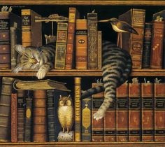 My Favorite Artists: Charles Wysocki. Gatos - cats - livros - books