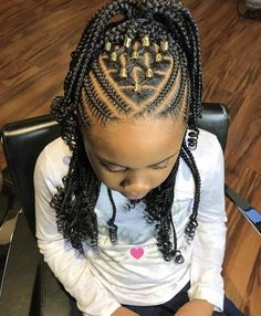 Best Picture For children hair styles black For Your Taste You are looking for something, and it is going to … Little Girl Braid Hairstyles, Little Girl Braids, Baby Girl Hairstyles, Natural Hairstyles For Kids, Kids Braided Hairstyles, Box Braids Hairstyles, Childrens Hairstyles, Curly Hair Styles, Natural Hair Styles