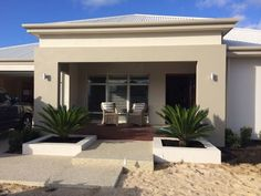 You could just open your house as a display home on the weekend . House Paint Exterior, Building Exterior, Exterior House Colors, Building A House, Beautiful Home Designs, New Home Designs, Front View Of House, Rendered Houses, Modern Villa Design