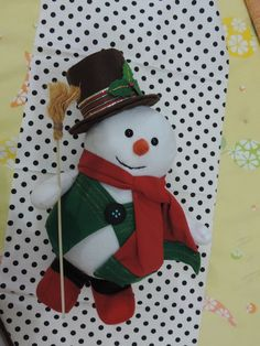 Lindo Boneco de Neve para enfeitar sua casa. R$ 45,00