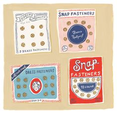 Snaps and zips by Danielle Kroll, via Behance