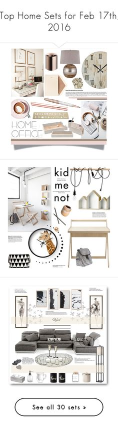 """""""Top Home Sets for Feb 17th, 2016"""" by polyvore ❤ liked on Polyvore featuring interior, interiors, interior design, home, home decor, interior decorating, Swarovski, Dempsey & Carroll, Martha Stewart and Pigeon & Poodle"""