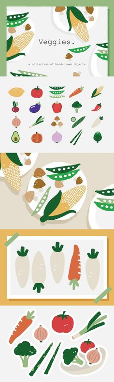 Another hand drawn plant set that brings freshness to any creative work! Let me introduce our Veggies Icons. We curate a variety of 20 hand drawn vegetable sets Veggie Restaurant, Logo Restaurant, Veggie Box, Food Poster Design, Menu Design, Fish Icon, Food Advertising, Stock Art, Food Waste