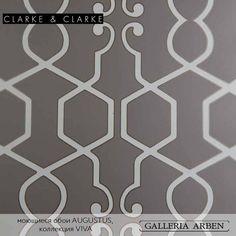моющиеся #обои #augustus коллекция #Viva #clarkeandclarke #wallpaper #galleria_arben #color #геометрия #grey #цвет