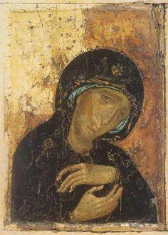 Третьяковскаягалерея. Богородица скорбящая. 13 век