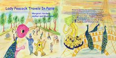 """""""LADY PEACOCK TRAVELS IN PARIS""""children's books ON APPLE iBOOKS AND AMAZON BOOKS"""