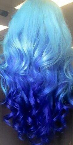 Super hair dyed tips blue beautiful 24 Ideas Hair Tips Dyed Blue, Dyed Tips, Hair Dye Tips, Blue Tips, Beautiful Hair Color, Cool Hair Color, Funky Hairstyles, Pretty Hairstyles, Ombre Hair