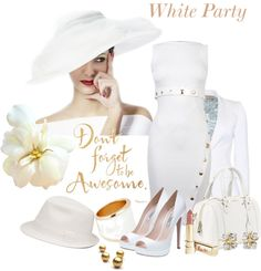 """White Party - Contest"" by flowerchild805 ❤ liked on Polyvore"