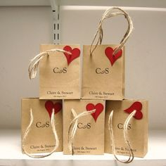 Wedding favour bags set of 5 £4.00