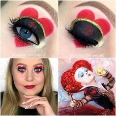 Red queen makeup look