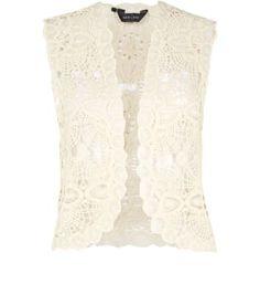 Cream Floral Crochet Waistcoat New Look Teen Guy Fashion, New Look Fashion, Crochet Waistcoat, Festival Fashion, Festival Style, Everyday Fashion, Fashion Online, What To Wear