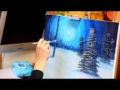 Paint with Maz - Silent Night - Full Step by Step Tutorial - YouTube