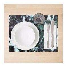 IKEA - BORGERLIG, Kuvertbrikke, Beskytter bordplaten og reduserer lyd fra tallerkener og bestikk.