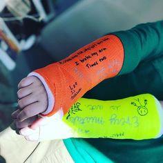 Two broken wrist inspire great poetry.