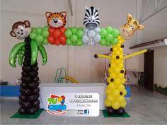 SAFARI Piercing piercings you can get Balloon Display, Balloon Arch, Balloon Columns, Safari Party, Jungle Theme Birthday, 1st Birthday Parties, Ballon Decorations, Baby Shower Decorations, Ballon Arrangement