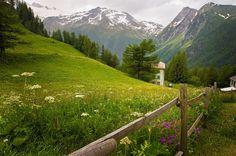 A Mountain Scene in Switzerland