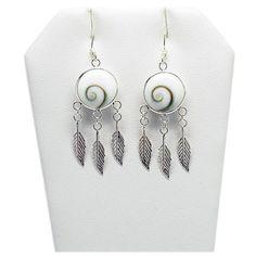 Dream Catcher Earrings, Earrings for Women, Silver Jewellery ($16) ❤ liked on Polyvore featuring jewelry, earrings, silver earrings, silver jewelry and silver jewellery