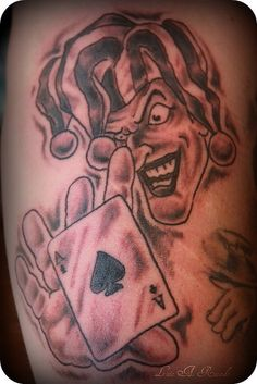 ace of spades and joker clown tattoo