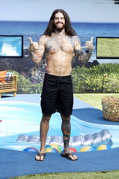 Big Brother 17 backyard picture of Austin Matelson.