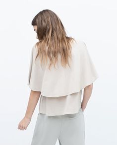 Image 2 of DOUBLE LAYER T-SHIRT from Zara