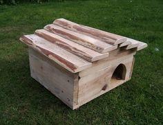 Hedgehog house made from reclaimed wood. www.facebook.com/remadeinnorfolk Hedgehog House Plans, Hedgehog Box, Pallet Planter Box, Planter Boxes, Pallet Designs, House Made, Annie, Wildlife, Bunny