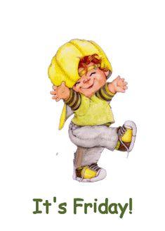 It's Friday! days friday gif happy friday days of the week weekdays friday greeting