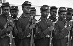 Over 180,000 black men fought for the Union army during the Civil War.  Most of them served in the United States Colored Troops (USCT) which  came into existence after the Emancipation Proclamation finally provided presidential endorsement for the much-discussed proposals for arming free blacks and former slaves in what had become the great conflict over slavery.